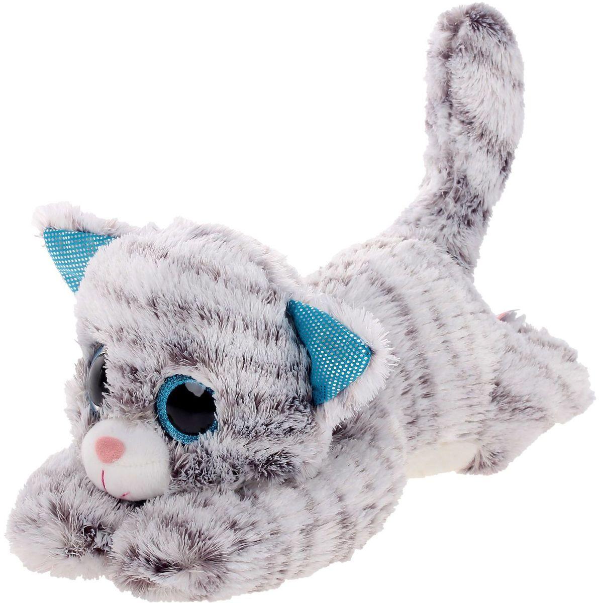 Мягкая игрушка Кот Глазастик 19 см