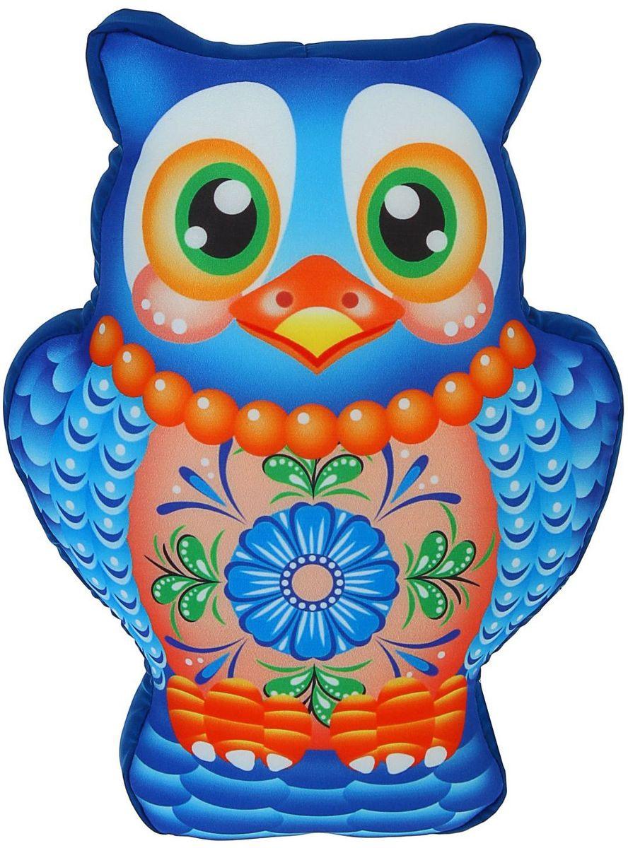 Sima-land Мягкая игрушка-антистресс Сова цвет голубой sima land мягкая игрушка на руку мальчик 1147835