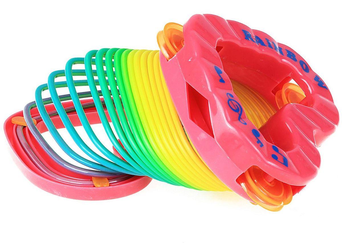 Sima-land Антистрессовая игрушка Пружинка Радуга Бубен Сердце sima land антистрессовая игрушка заяц хрустик 05 цвет красный