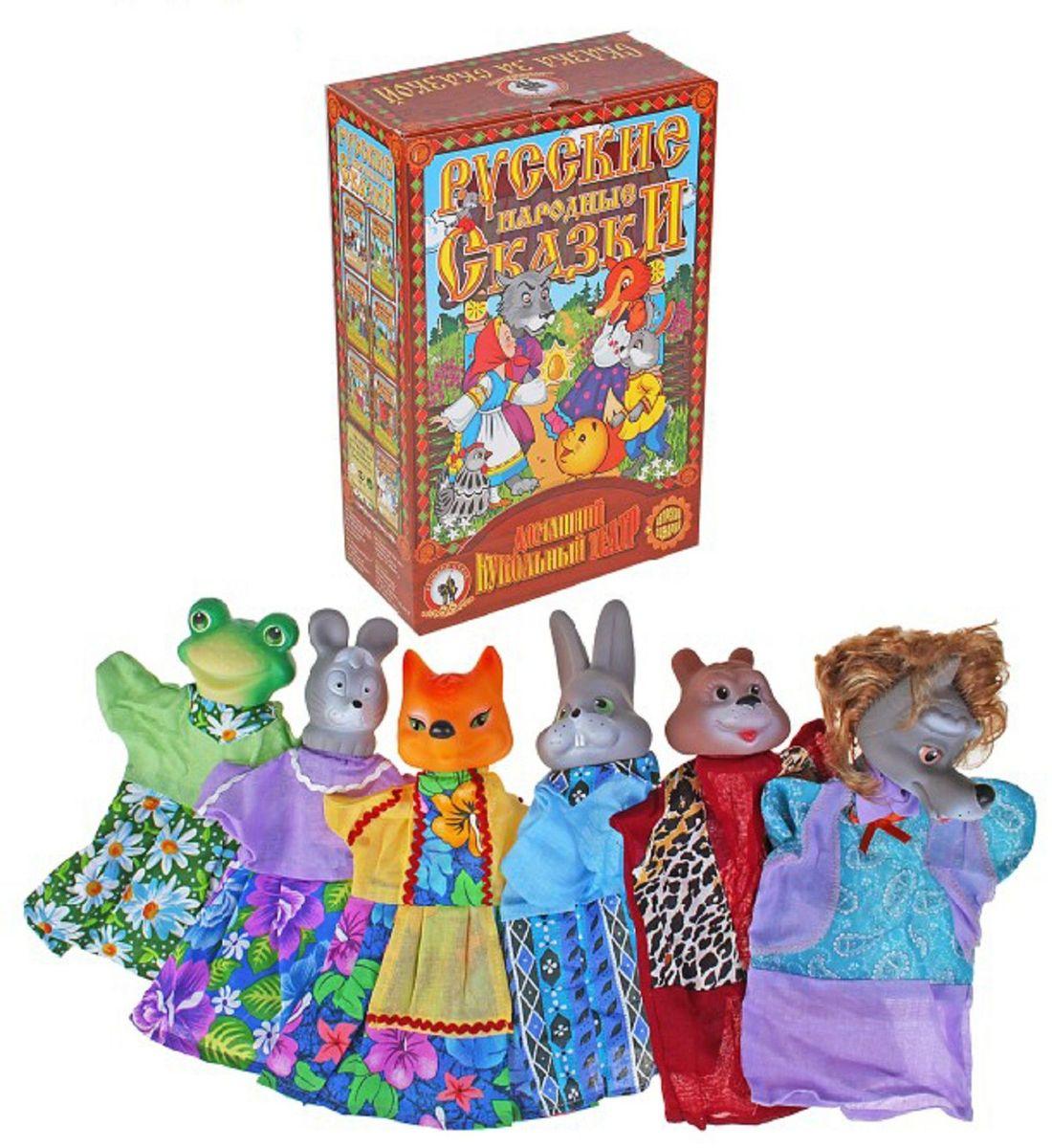Sima-land Набор мягких игрушек на руку Теремок 6 персонажей 477058 sima land мебель для кукол гостиная 11 предметов 730418