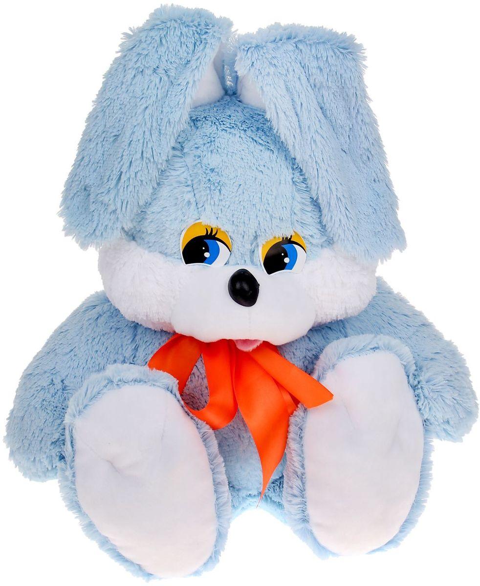 Флиппер Тойз Мягкая игрушка Зайчишка цвет голубой 55 см 632438 флиппер тойз мягкая игрушка черепаха тортила 70 см 632416