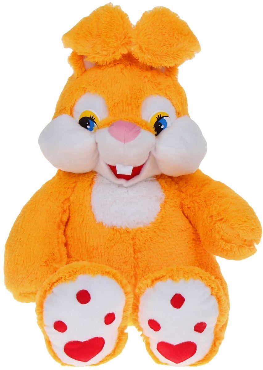 Флиппер Тойз Мягкая игрушка Зайка-зазнайка цвет желтый 80 см 632471 флиппер тойз мягкая игрушка черепаха тортила 70 см 632416