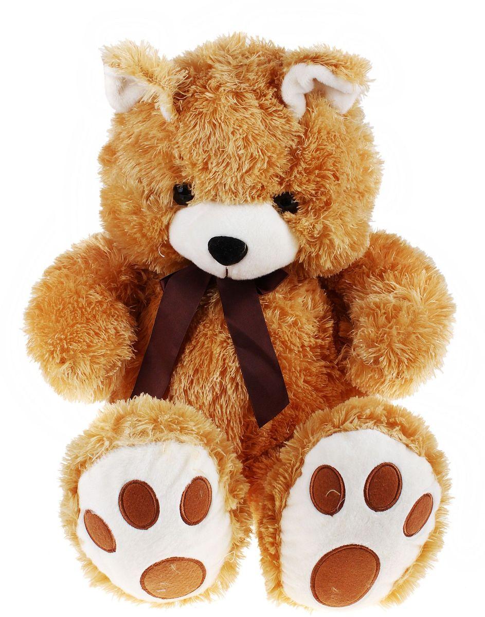 Флиппер Тойз Мягкая игрушка Мишка цвет бежевый 75 см 632515 игрушка флиппер мишка в футболке brown фл602