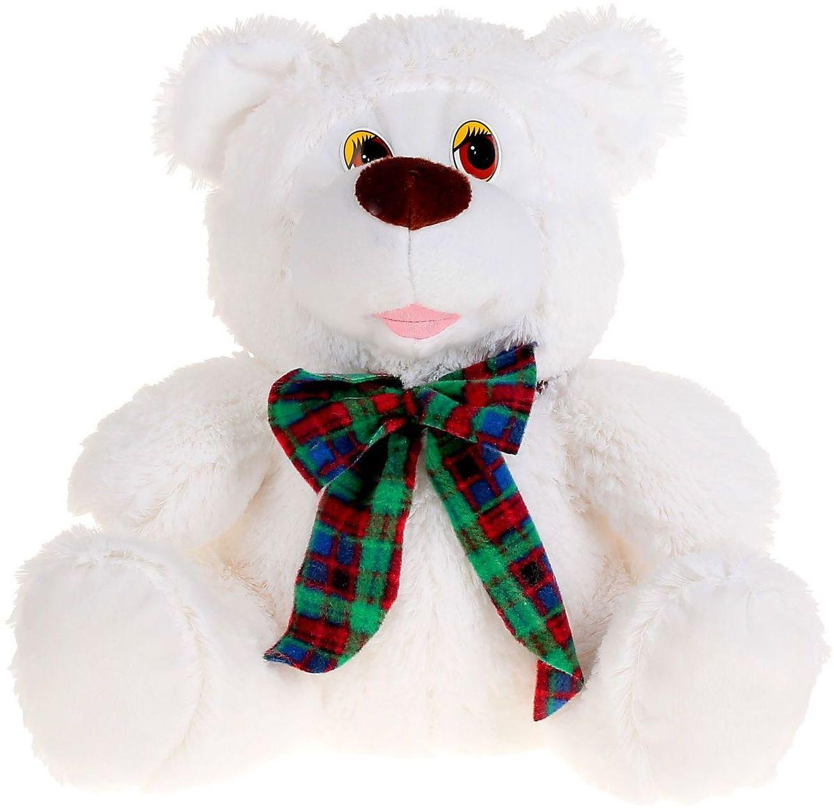 Флиппер Тойз Мягкая игрушка Медведь с бантом цвет белый 45 см 632516 флиппер тойз мягкая игрушка черепаха тортила 70 см 632416
