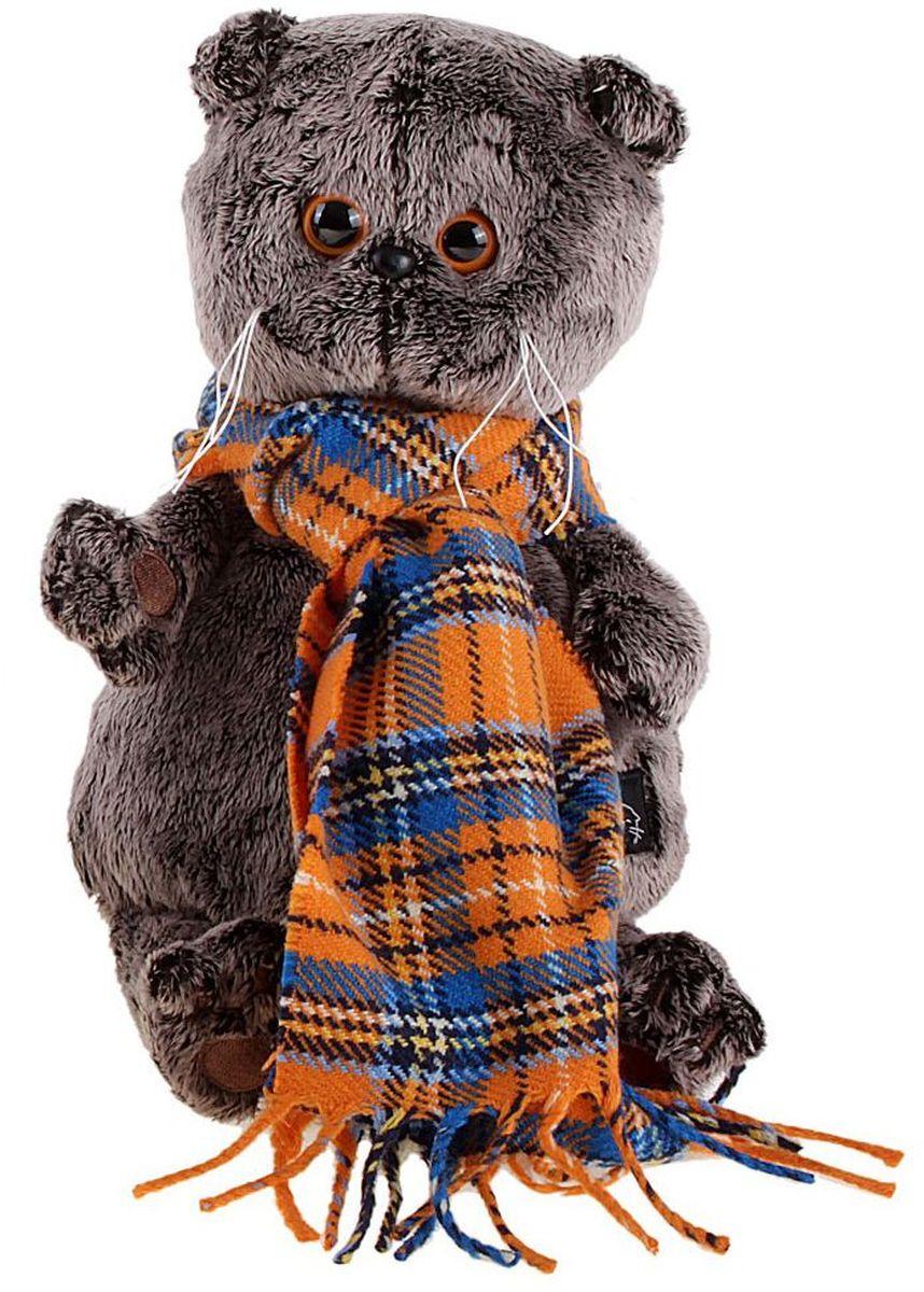 Басик и Ко Мягкая игрушка Басик и шарф в клеточку 22 см 747257 пальто басик