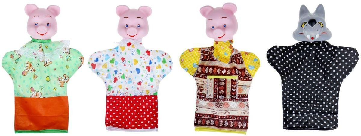 Sima-land Набор мягких игрушек на руку Три поросенка 4 персонажа 784781 - Игрушки для малышей