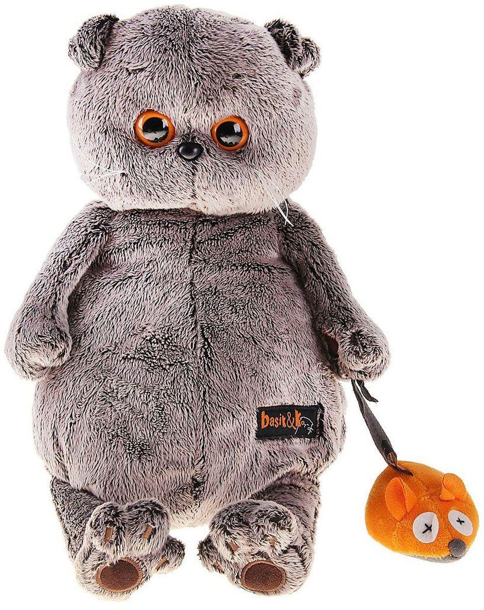 Басик и Ко Мягкая игрушка Басик и мышка 30 см 821230 пальто басик