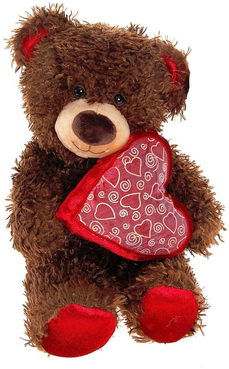 Fancy Мягкая игрушка Медвежонок Чиба с сердцем 28 см 890001 fancy мягкая игрушка собака эля 14 5 см