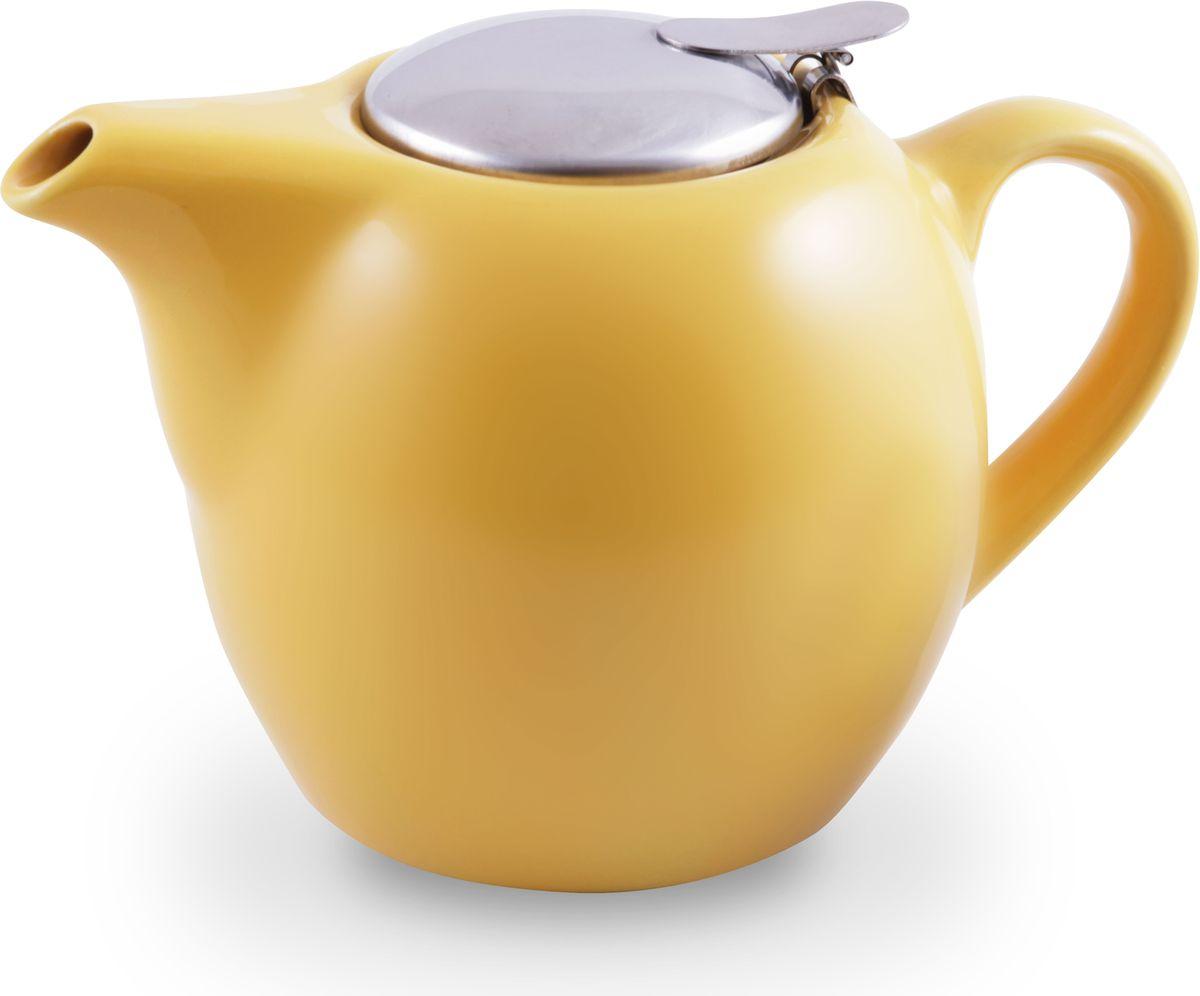 Заварочный чайник Fissman, с ситечком, цвет: желтый, 750 мл. 9202TP-9202.750