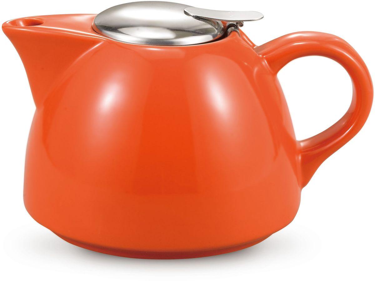 Чайник заварочный Fissman, с ситечком, цвет: оранжевый, 950 мл. 9279TP-9279.950Заварочный чайник Fissman изготовлен из высококачественной керамики, покрытой эмалью в несколько слоев. Такой чайник гигиеничен и устойчив к износу при длительном использовании.Чайник оснащен ситечком из нержавеющей стали с крышкой, которое не позволит чаинкампопасть в чашку, при этом сохранит букет и насыщенность чая. Объем: 950 мл.