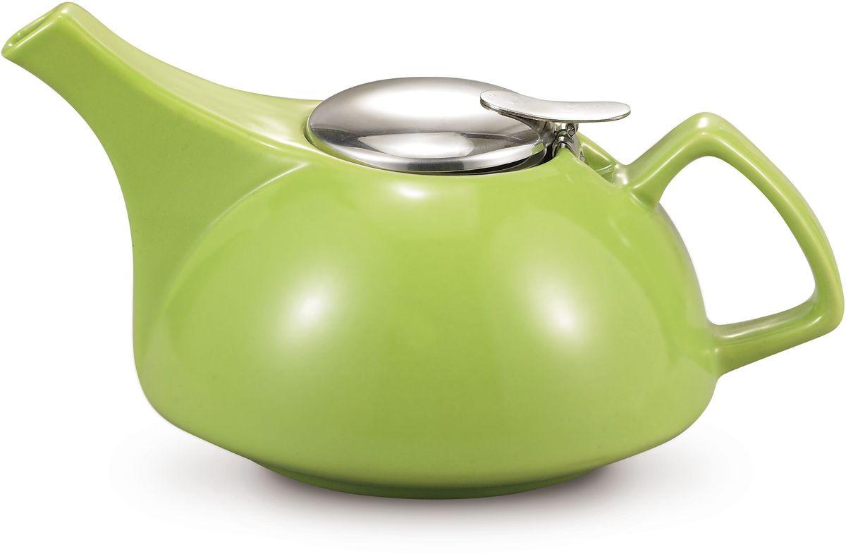 Заварочный чайник Fissman, с ситечком, цвет: зеленый, 900 мл. 9302TP-9302.900