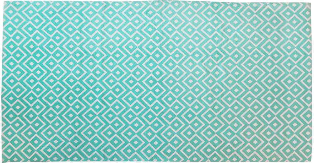 Полотенце пляжное Bonita, цвет: бирюзовый, 75 x 150 см1010216674Пляжное полотенце Bonita выполнено из 100% хлопка. Изделие отлично впитывает влагу, быстро сохнет, сохраняет яркость цвета и не теряет форму даже после многократных стирок. Такое полотенце очень практично и неприхотливо в уходе. Оно создаст прекрасное настроение и отлично подойдет для использования дома и на пляже.