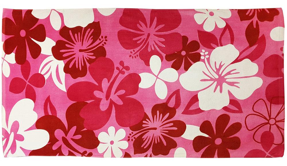 """Полотенце пляжное """"Bonita"""", махровое, цвет: красный, 75 x 150 см"""