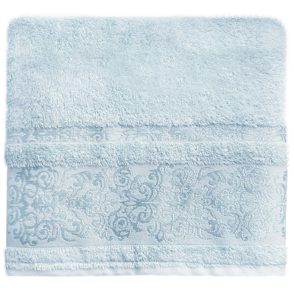 Полотенце банное Bonita Дамаск, махровое, цвет: голубой, 50 x 90 см махровое полотенце для кухни quelle bonita 1010687