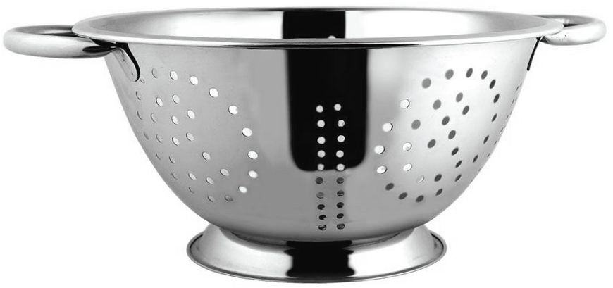 """Дуршлаг """"Worldfa"""" изготовлен из качественной нержавеющей стали. Изделие предназначено для процеживания макарон, мытья ягод, фруктов и овощей. Дуршлаг оснащен удобными ручками и подставкой."""