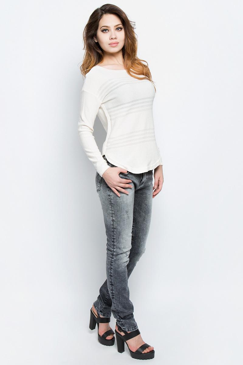 Свитер женский Tom Tailor, цвет: белый. 3022690.00.71_8005. Размер L (48)3022690.00.71_8005Стильный женский свитер Tom Tailor выполнен из хлопка и вискозы. Свитер приятный на ощупь и не сковывает движений, хорошо вентилируется и позволяет коже дышать. Модель прямого кроя с длинными рукавами, круглым вырезом горловины будет отлично на вас смотреться. Свитер оформлен полупрозрачными полосками.Элегантный свитер - идеальный вариант для создания модного образа.