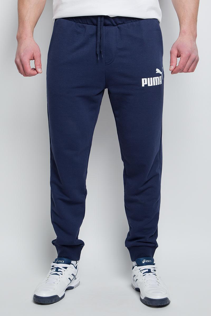 Брюки спортивные мужские Puma ESS No.1 Sweat PantsTR cl, цвет: синий. 838265_06. Размер XXL (52/54)