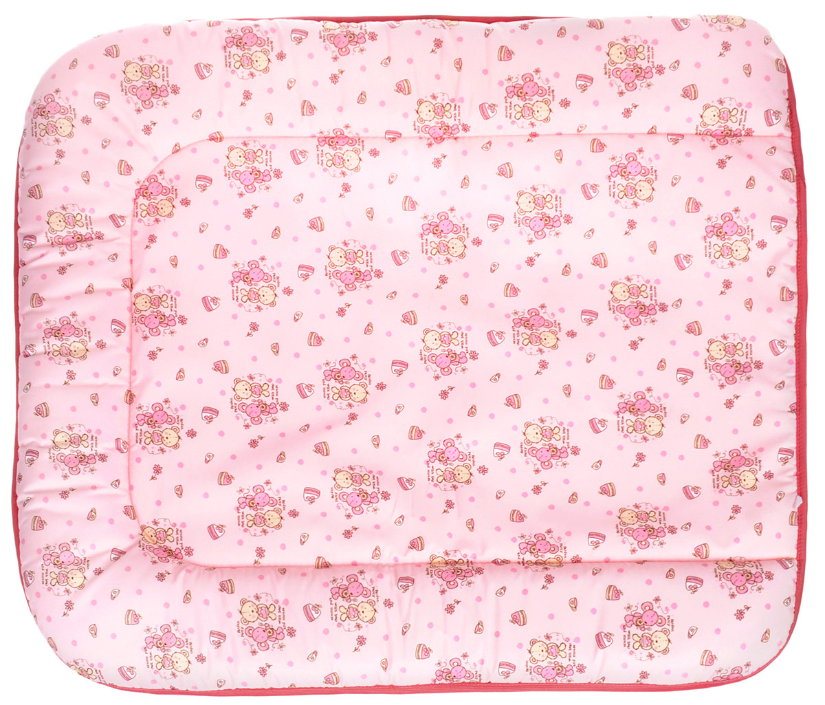 Фея Доска пеленальная на комод Животные цвет светло-розовый