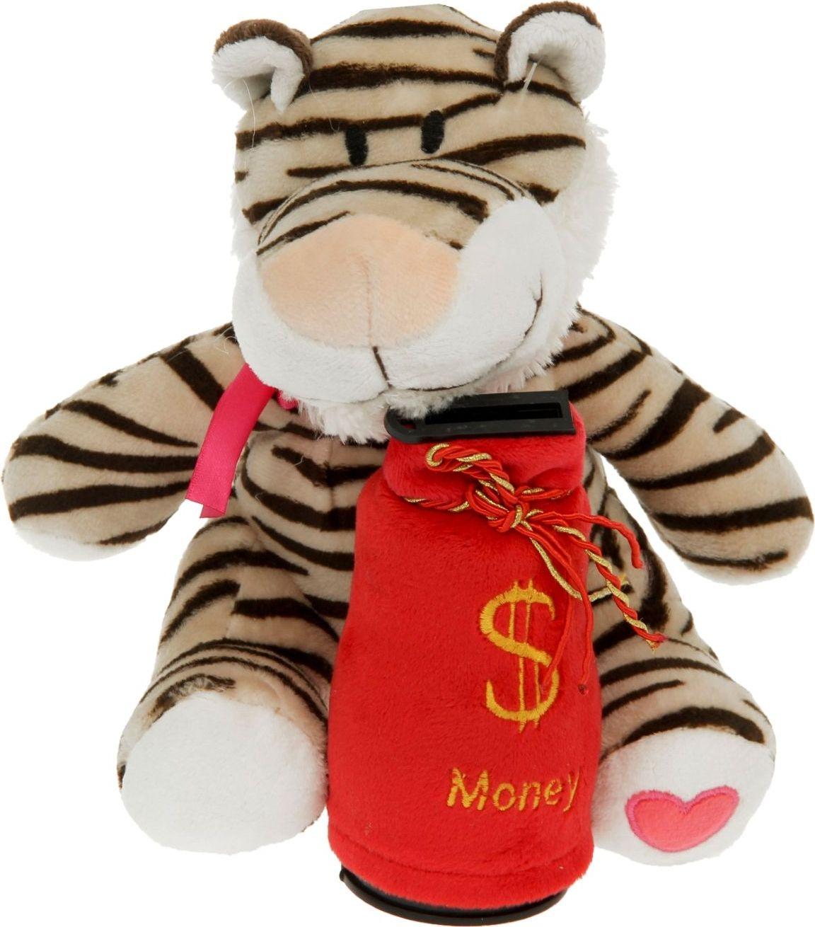 Sima-land Музыкальная игрушка-копилка Тигр с бантиком 1036032