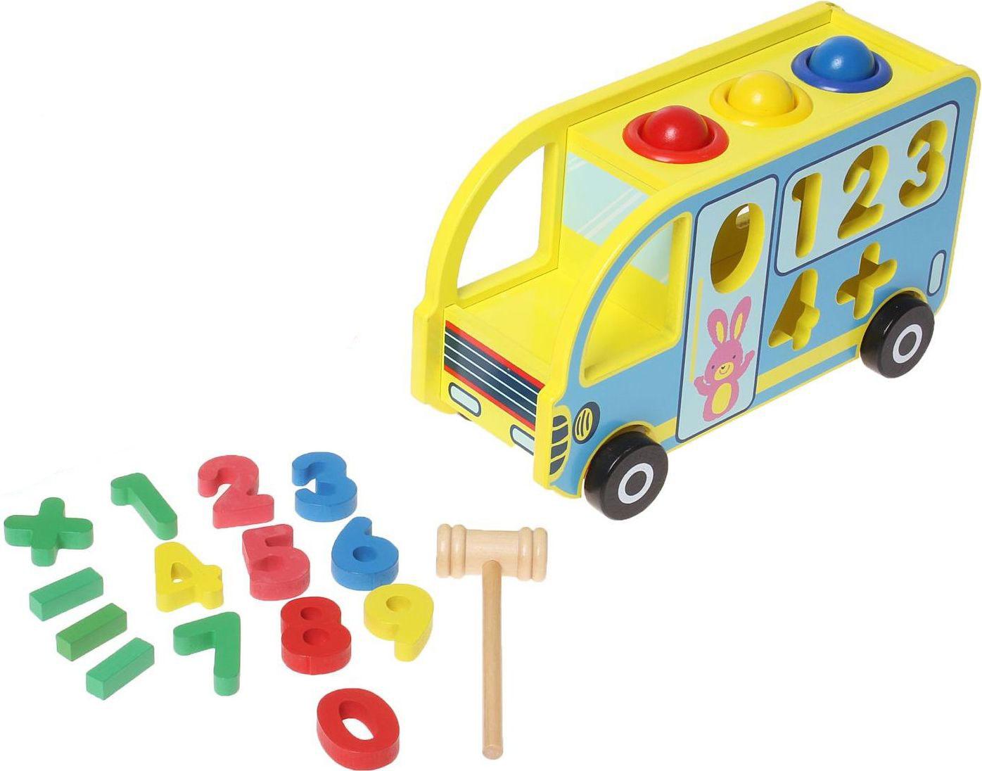 Sima-land Сортер-стучалка Автобус 17 элементов 1158924, Сима-ленд