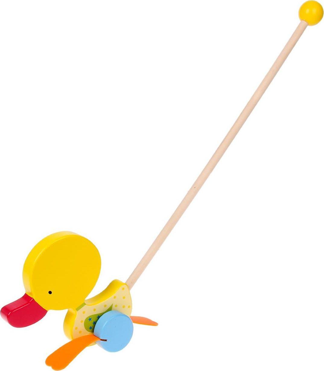 Sima-land Игрушка-каталка Утенок с резиновыми лапками sima land антистрессовая игрушка спираль радуга улыбайся