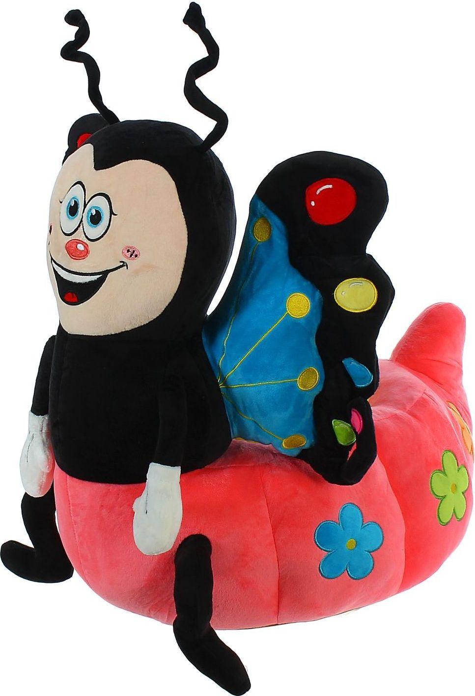 Sima-land Мягкая игрушка-кресло Божья коровка цвет черный розовый бк 04 магнит божья коровка 35мм 780420