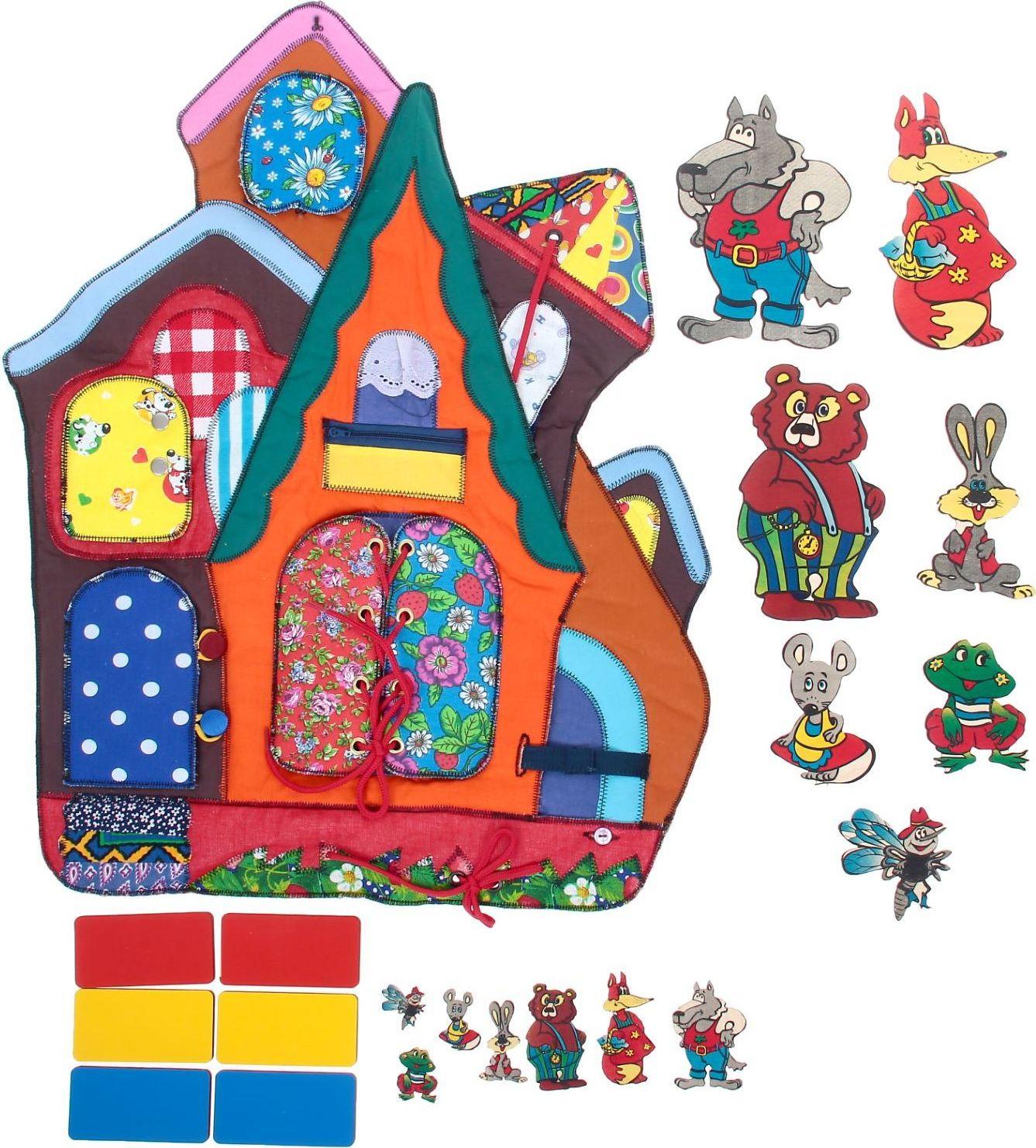 Sima-land Шнуровка Теремок, в сумочке, 30*8*23 1788306 купить развивающую игрушку для девочки 1 год