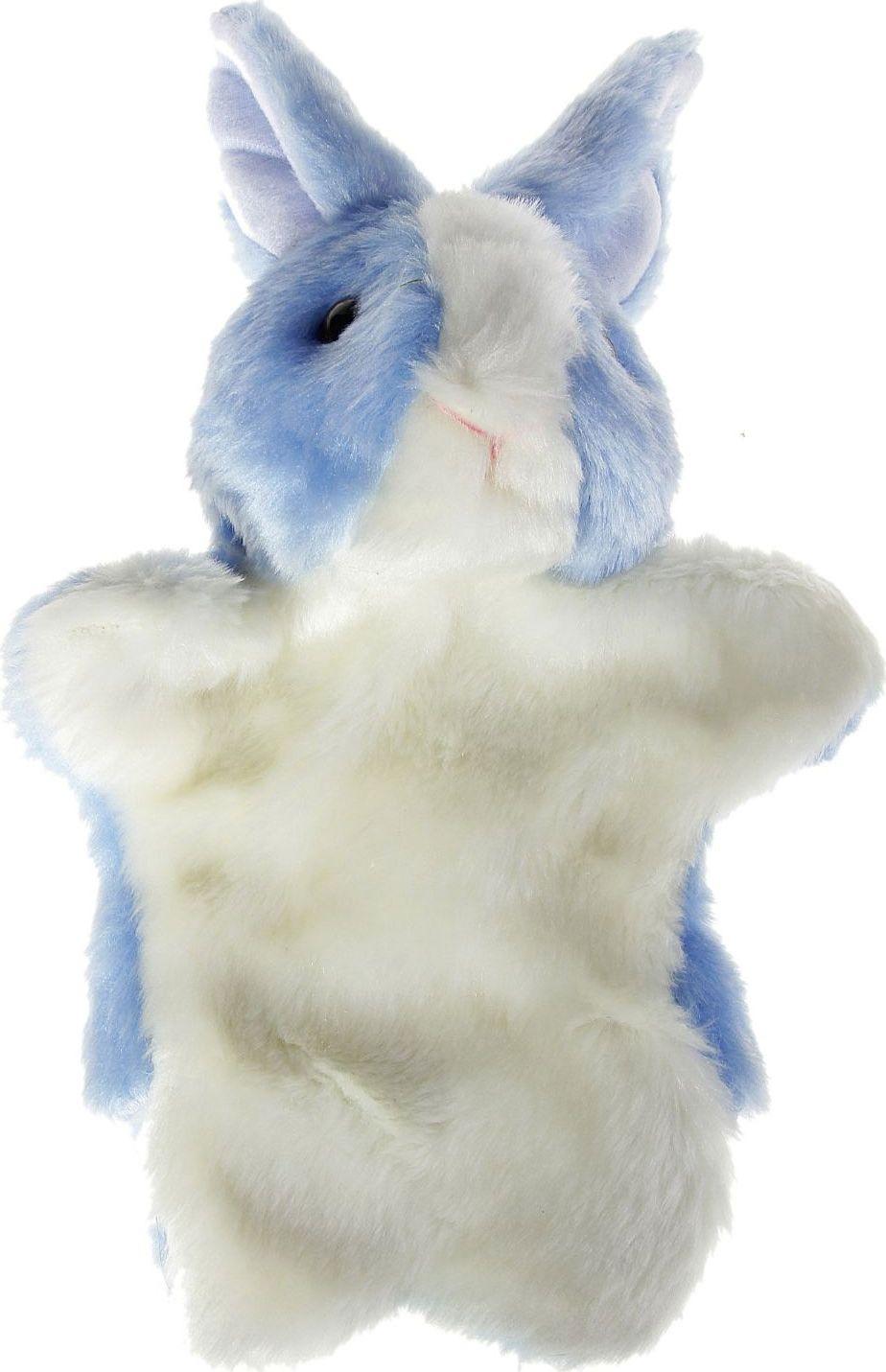 Sima-land Мягкая игрушка на руку Заяц цвет голубой, белый sima land мягкая игрушка на руку мальчик 1147835