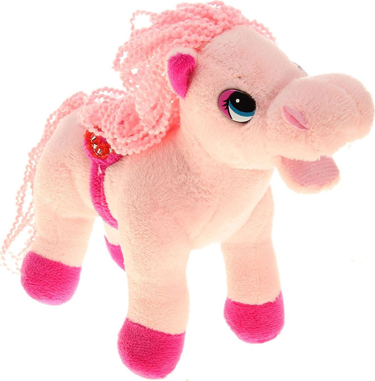 Sima-land Мягкая музыкальная игрушка Лошадь кудрявая цвет розовый 326372 sima land мягкая игрушка на руку мальчик 1147835