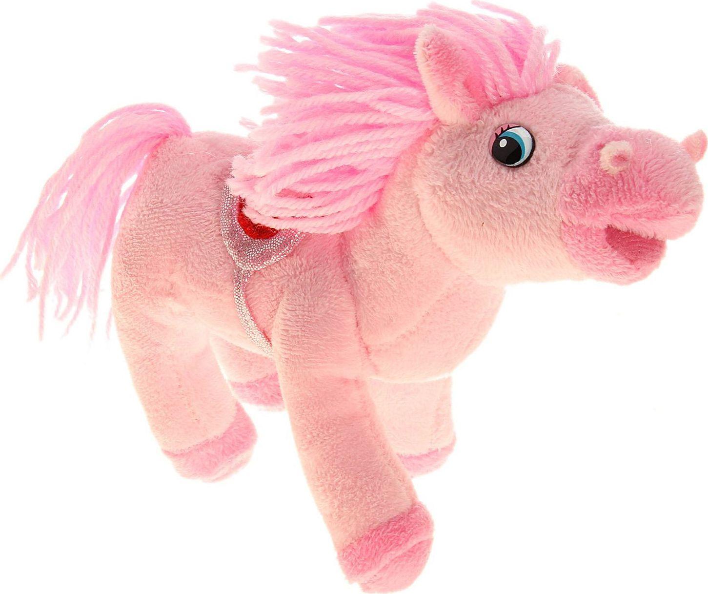 Sima-land Мягкая музыкальная игрушка Лошадь кудрявая цвет розовый 326373 sima land мягкая игрушка на руку мальчик 1147835