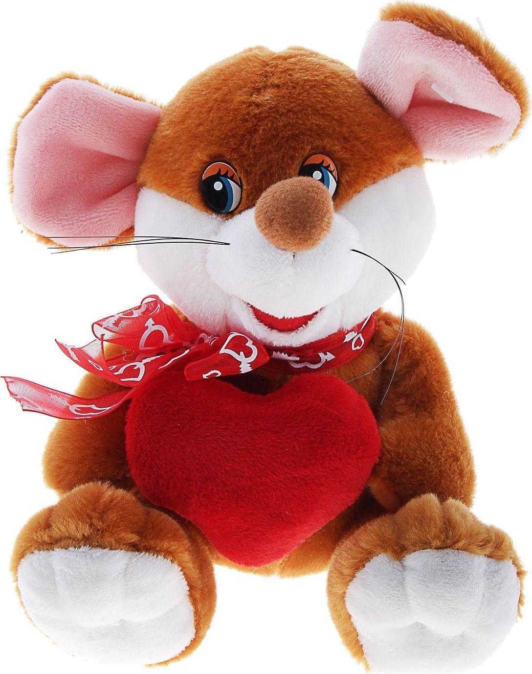 Sima-land Мягкая игрушка Мышка с сердцем 330511