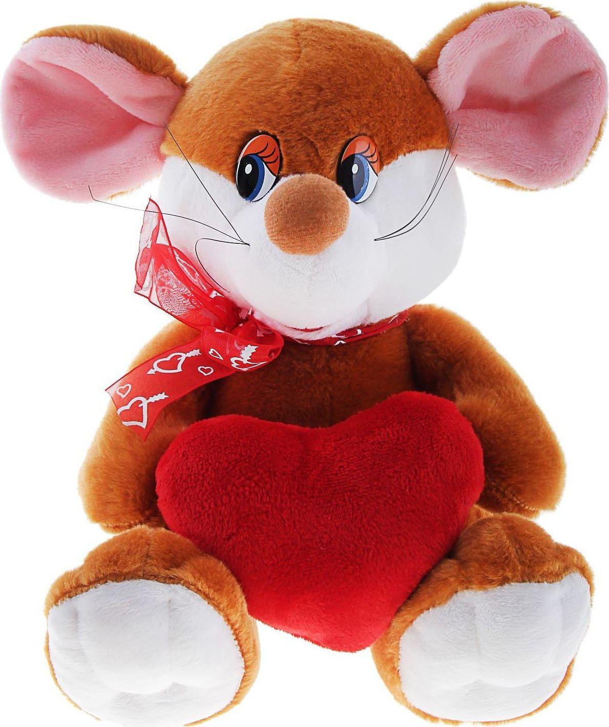 Sima-land Мягкая игрушка Мышка с сердцем 330512 sima land мягкая игрушка на руку мальчик 1147835