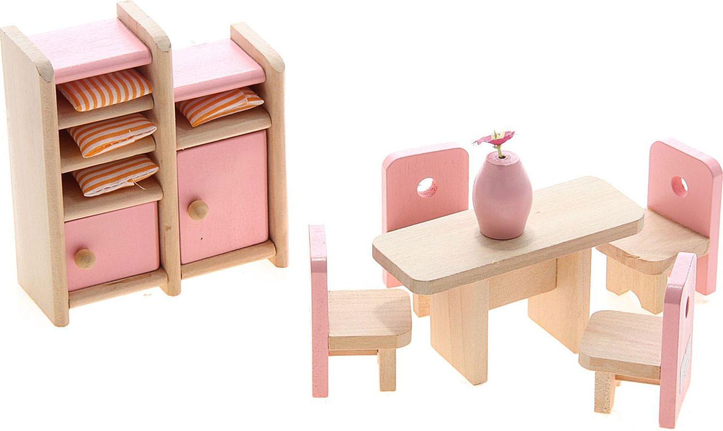 Sima-land Мебель для кукол Столовая 8 предметов 730416 комплект щеток to be для машинки очистки цепи