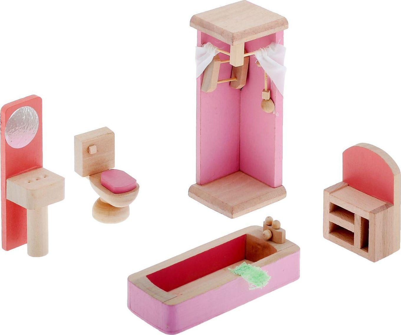 Sima-land Мебель для кукол Ванная комната 5 предметов 730417 sima land мебель для кукол гостиная 11 предметов 730418