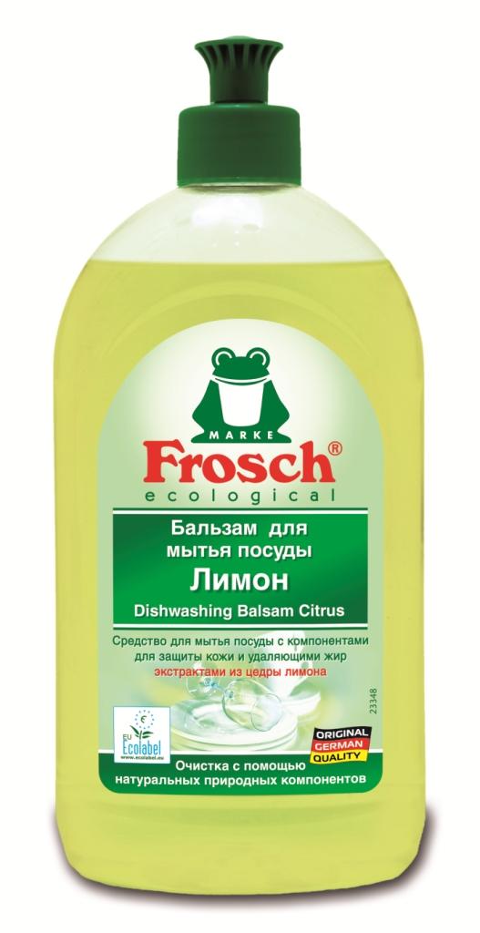 Бальзам для мытья посуды Frosch, с ароматом лимона, 500 мл707069Бальзам для мытья посуды Frosch отлично удаляет жир и грязь с помощьюнатуральных природных компонентов из цедры лимона. Особенности бальзама для мытья посуды Frosch:- до блеска отмывает посуду; - оставляет после себя приятный, свежий лимонный аромат; - смываемость соответствует ГОСТ; - формула Зеленой Силы с натуральными ингредиентами, подчеркивающими качество очистки и ухода; - с ПАВ возобновляемого растительного происхождения, с высоким быстрым биологическим расщеплением; - безопасные для кожи формулы, протестированные дерматологами. Минимальное использование мягких консервантов и тщательно отобранных ароматизаторов или полный отказ от них; - отсутствие опасных химикатов, таких как фосфаты, бораты, формальдегиды, галогенорганические компоненты, ПВХ; - сниженная нагрузка на окружающую среду благодаря сокращению использования упаковочных материалов. Прогрессивное использование переработанных и перерабатываемых материалов; - не тестируется на животных; - экологически безопасное и энергосберегающее производство. Характеристики: Объем: 500 мл. Производитель:Германия. Товар сертифицирован. Торговая марка Frosch специализируется на выпуске экологически чистой бытовой химии. Для изготовления своей продукции Frosch использует натуральные природные компоненты. Ассортимент содержит все необходимое для бережного ухода за домом и вещами. Продукция торговой марки Frosch эффективно удаляет загрязнения, оберегает кожу рук и безопасна для окружающей среды.Как выбрать качественную бытовую химию, безопасную для природы и людей. Статья OZON Гид