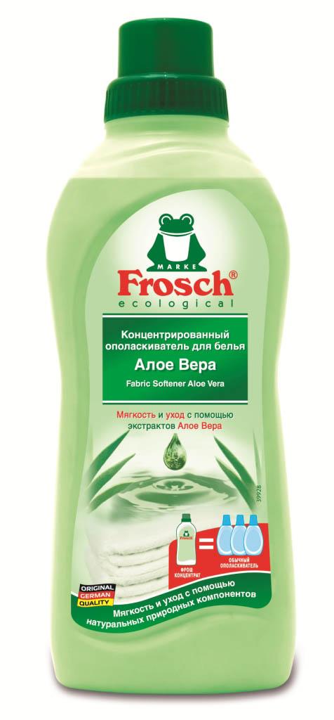 Ополаскиватель для белья Frosch, концентрированный, сАлое Вера, 750 мл709329Ополаскиватель для белья Frosch с помощью активных веществ на растительной основесмягчает волокна ткани, защищает их и сохраняет воздухопроницаемость белья. Средство подходит для хлопка, шерсти, вискозы, меланжевой ткани и синтетических волокон (например, эластана). Содержит натуральные отдушки, которые снижают риск появления раздражения на коже. Не содержит фосфата и формальдегида. Торговая марка Frosch специализируется на выпуске экологически чистой бытовой химии. Для изготовления своей продукции Froschиспользует натуральные природные компоненты. Ассортимент содержит все необходимое для бережного ухода за домом и вещами. Продукция торговой марки Frosch эффективно удаляет загрязнения, оберегает кожу рук и безопасна для окружающей среды. Характеристики: Объем: 750 мл. Производитель:Германия. Товар сертифицирован.