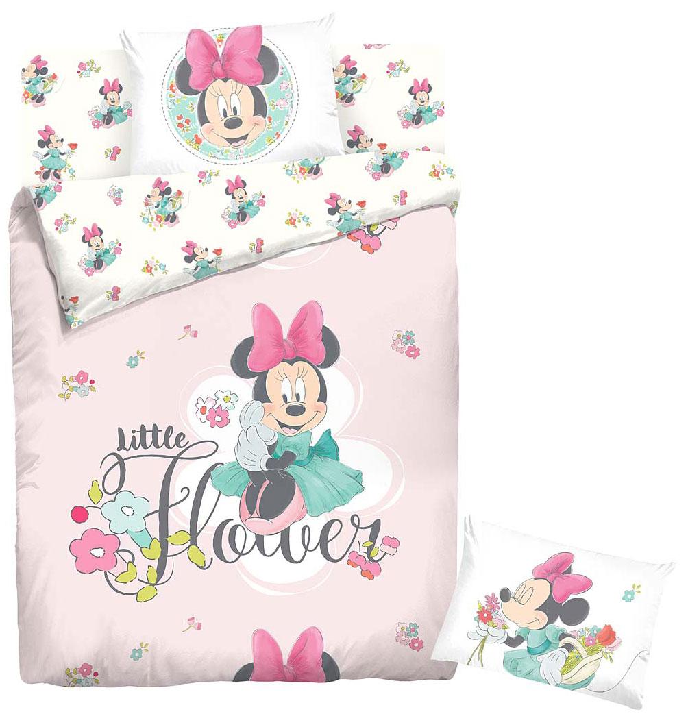 Комплект белья Disney Minni Maus, 1,5-спальный, наволочка 70х70. 707497707497Комплект детского постельного белья Disney Minni Maus состоит из пододеяльника, простыни и наволочки. Комплект белья выполнен из ткани ранфорс с высоким показателем износостойкости: такое постельное белье очень прочное и долговечное, не деформируется при стирках и прослужит долгие годы. Такой комплект привнесет в спальню ребенка массу новых красок и незабываемых впечатлений.