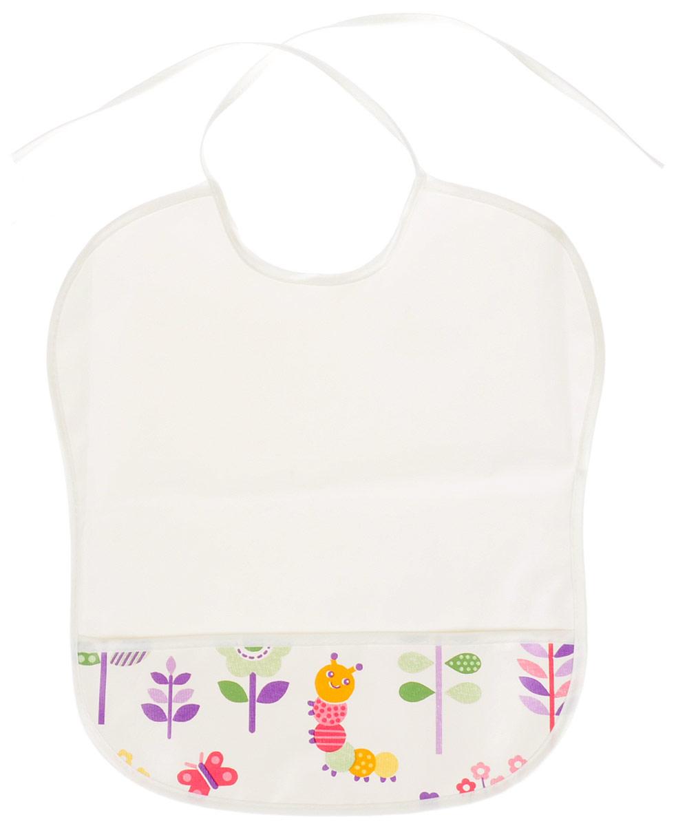 Колорит Нагрудник с карманом цвет белый 33 х 33 см -  Все для детского кормления
