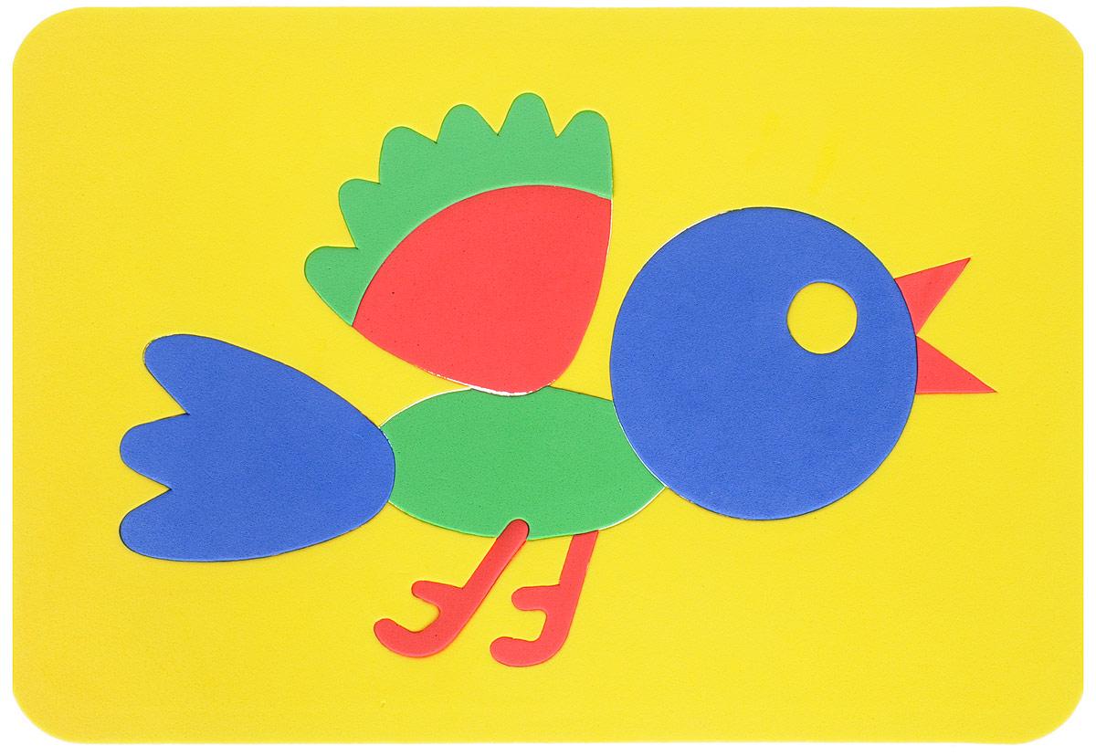 Август Пазл для малышей Птичка цвет основы желтый флексика пазл для малышей геометрия цвет основы красный