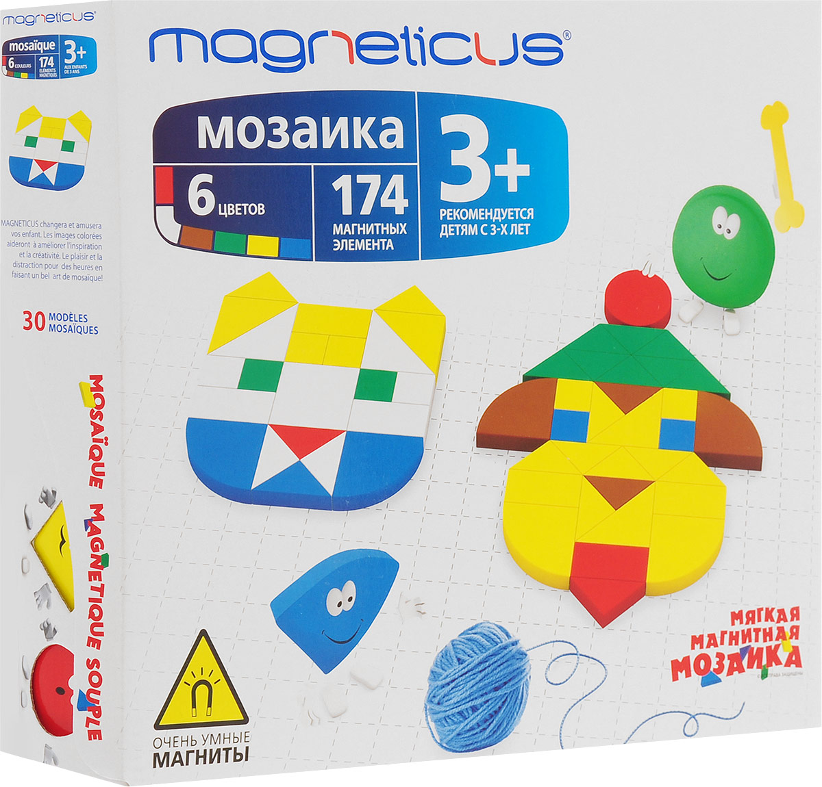 Magneticus Мозаика 30 этюдов магнитная мозаика magneticus mm 174 174 элемента 6 цветов 30 этюдов