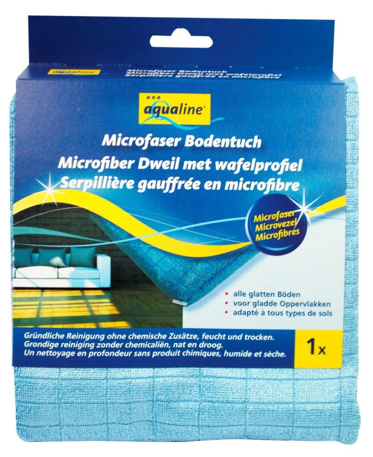 Тряпка для мытья пола Aqualine, 50 х 55 см 23242324Тряпка Aqualine, выполненная из микроволокна, отлично подойдет для мытья полов. Благодаря специальному рисунку волокон эффективно удаляет загрязнения без бытовой химии, не оставляя разводов. Она обладает высокой впитывающей способностью и легко выжимается. Подходит для сухой и влажной уборки всех видов полов.Характеристики:Материал:микроволокно (80% полиэстер, 20% полиамид). Размер:50 см х 55 см. Размер упаковки:15 см х 3 см х 17,5 см. Производитель: Германия. Артикул:2324.Уважаемые клиенты! Обращаем ваше внимание на возможные изменения в дизайне упаковки. Качественные характеристики товара остаются неизменными. Поставка осуществляется в зависимости от наличия на складе.