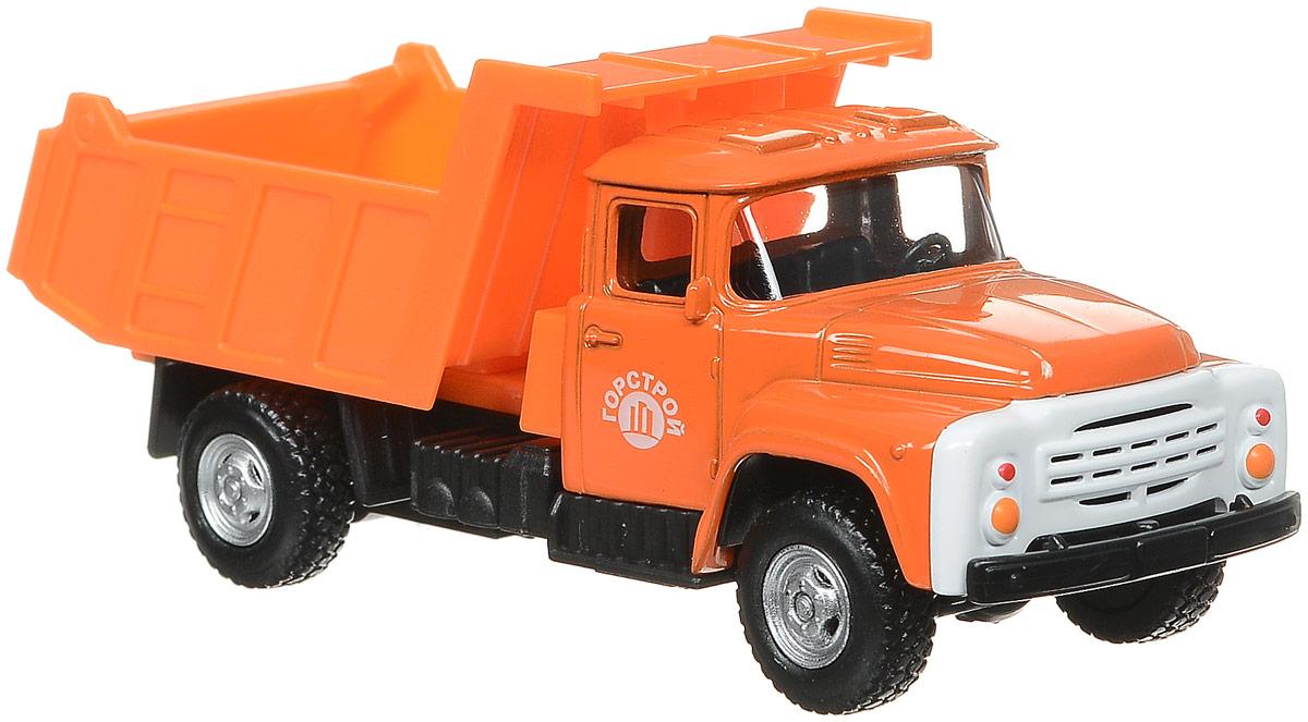 ТехноПарк Самосвал инерционный ЗИЛ 130 цвет оранжевый игрушка технопарк зил 130 бензовоз x600 h09131 r