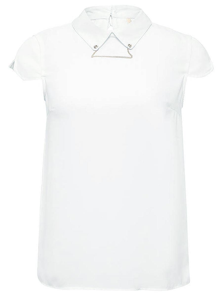 Блузка женская Baon, цвет: белый. B197033_Milk. Размер L (48)B197033_MilkБлузка женская Baon выполнена из полиэстера. Модель с короткими рукавами и отложным воротником.