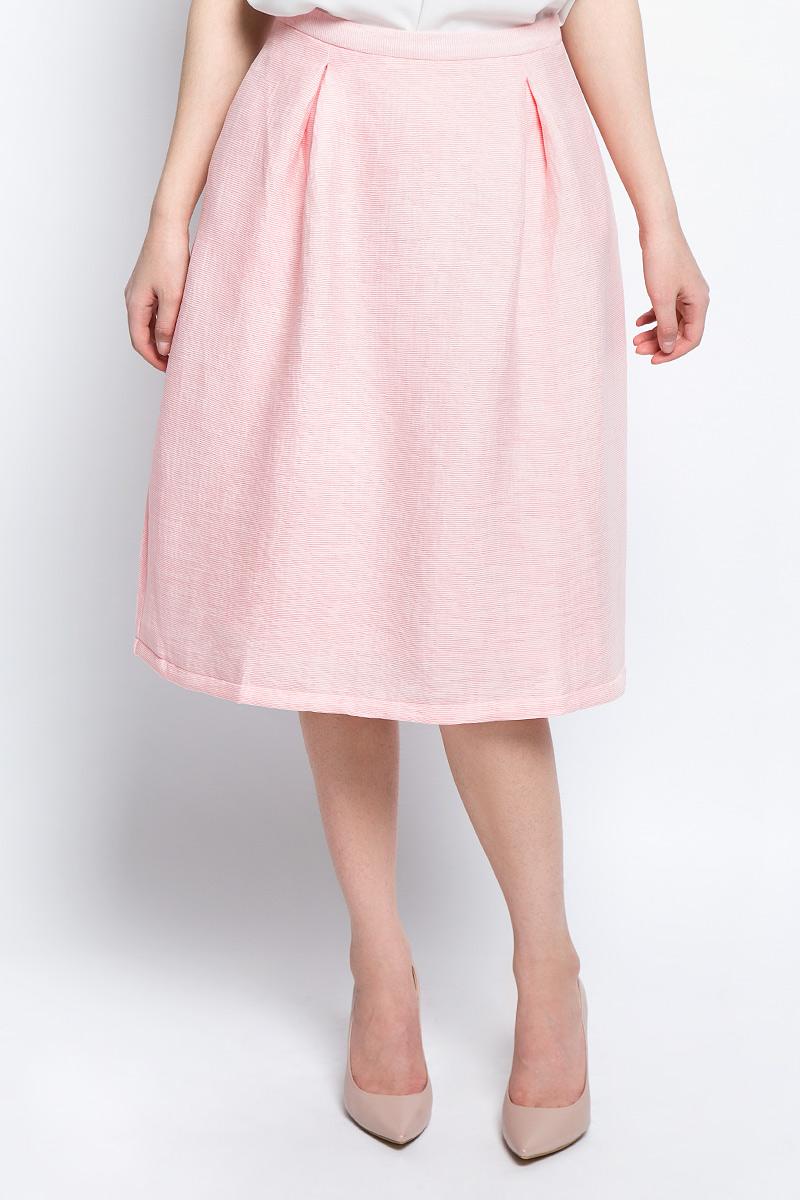 Юбка женская Baon, цвет: розовый. B477017_Pearl. Размер L (48) женская юбка brand new 2015 m l xl 1031