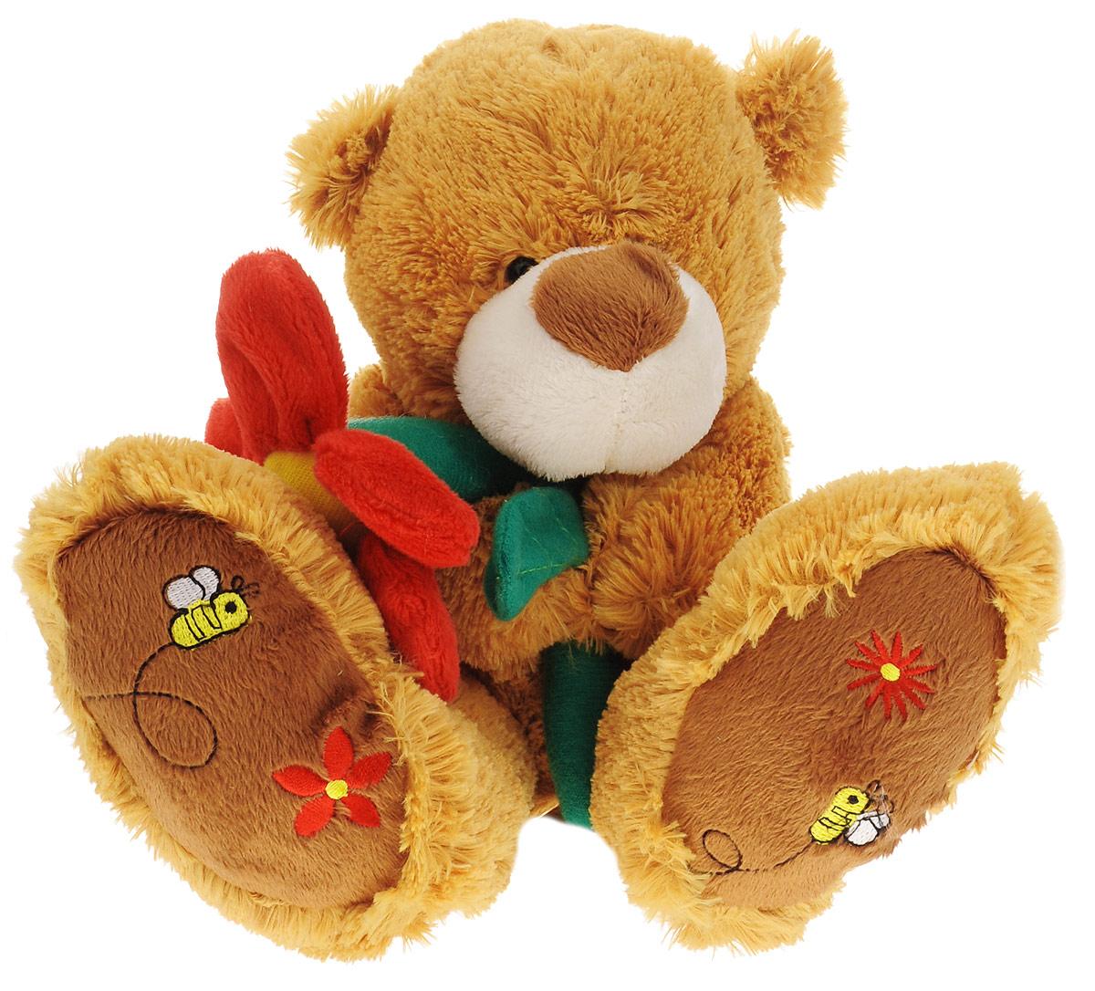 Magic Bear Toys Мягкая игрушка Медведь с цветком 30 см magic bear toys мягкая игрушка ослик чарли 27 см