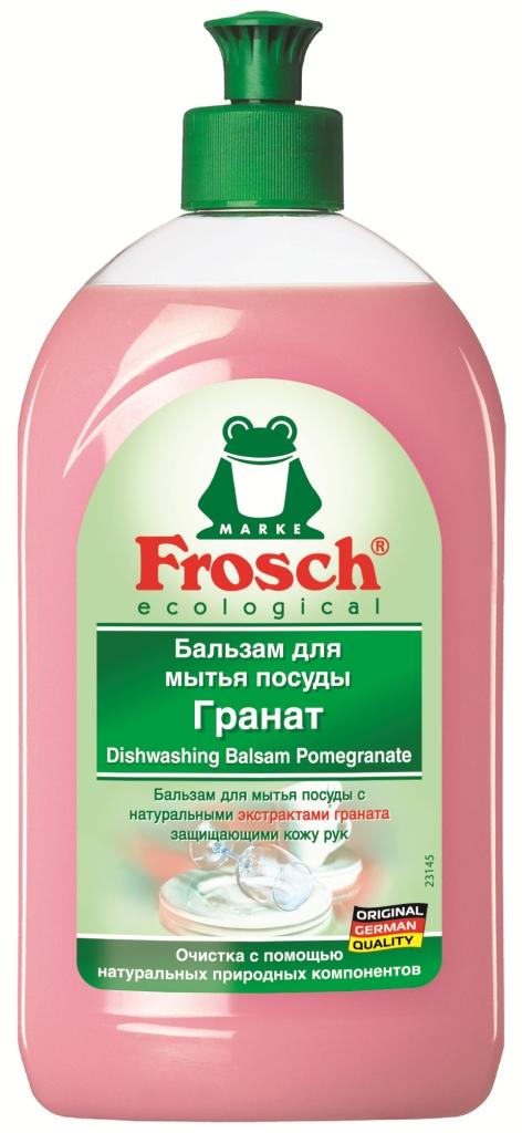 Бальзам для мытья посуды Frosch, с экстрактом граната, 500 мл бальзам для мытья посуды зеленый чай frosch 0 5 л