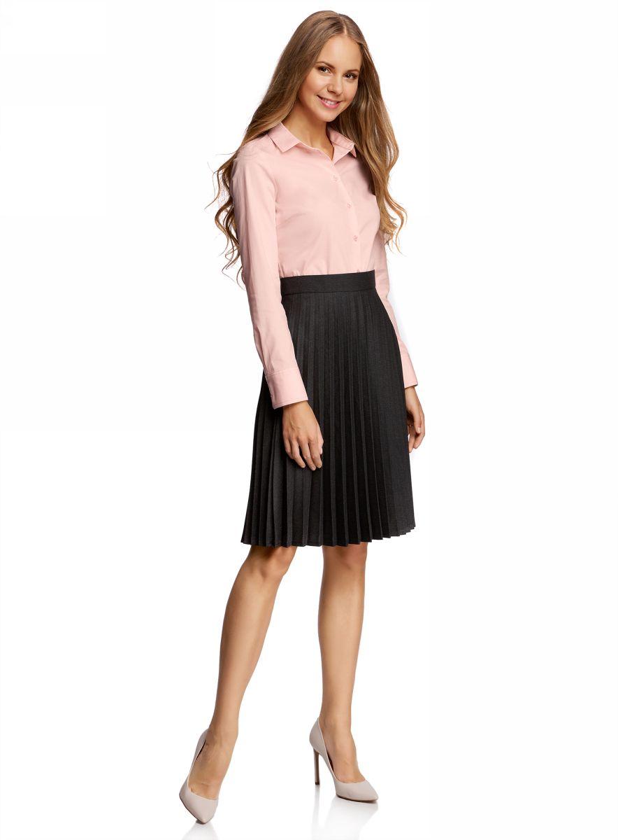 Блузка женская oodji Ultra, цвет: светло-розовый. 11403227B/14885/4000N. Размер 44-170 (50-170) oodji 11902047 4 14885 7079e
