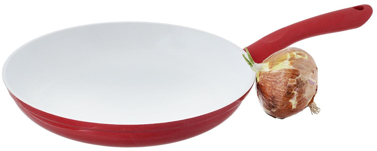 """Сковорода NaturePan """"Modern"""" выполнена из высококачественного алюминия с антипригарным керамическим покрытием. Покрытие абсолютно безопасно для здоровья, не содержит вредных веществ. Керамическое покрытие позволит вам готовить вкусную и здоровую еду с минимальным добавлением масла и жира.   Усиленное кованное дно обеспечивает равномерное распределение тепла по всей поверхности сковороды, что улучшает качество приготовленной пищи.  Сковорода оснащена удобной пластиковой ручкой с противоскользящим покрытием, которая не нагревается.  Подходит для всех типов плит, кроме индукционных.  Разрешена только ручная мойка.   Высота стенки: 4,5 см.  Длина ручки: 18 см."""