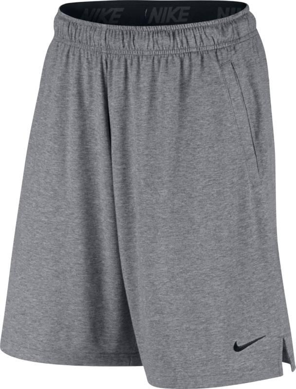 Шорты мужские Nike Nk Short Dri-Fit Cotton, цвет: серый. 842267-091. Размер S (44/46)842267-091Мужские шорты для тренинга Nk Short Dri-Fit Cotton от Nike выполнены из хлопка и полиэстера с влагоотводящей технологией Dri-FIT, которая обеспечивает охлаждение во время жарких тренировок. Шаговый шов, прямоугольная ластовица и разрезы в боковых швах для полной свободы движений. Боковые прорезные карманы не смещаются во время движения.Эластичный пояс с повторяющимся жаккардовым логотипом Nike и внутренним шнурком обеспечивает комфортную посадку и позволяет не отвлекаться от спорта.