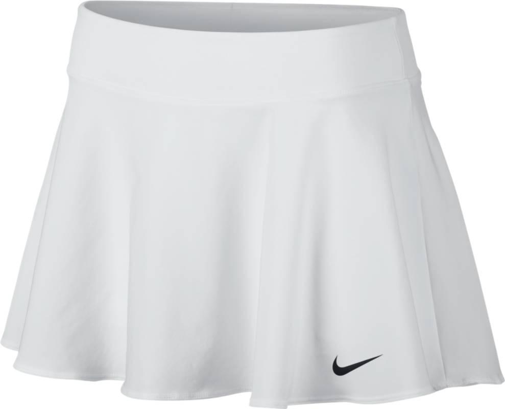 Юбка для тенниса Nike Nkct Flx Pure Skirt Flouncy, цвет: белый. 830616-100. Размер M (44/46)830616-100Теннисная юбка Nkct Flx Pure Skirt Flouncy от Nike выполнена из эластичного полиэстера. Технология Dri-FIT отводит влагу и обеспечивает комфорт. Эластичный пояс обеспечивает надежную посадку, а внутренние шорты гарантируют легкую поддержку.